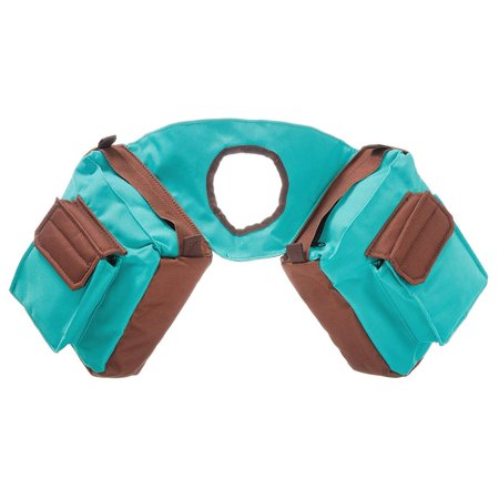 Insulated Nylon Horn Bag, Turquoise/Brown, TRAIL rider gear carrier saddle bag By Tough 1