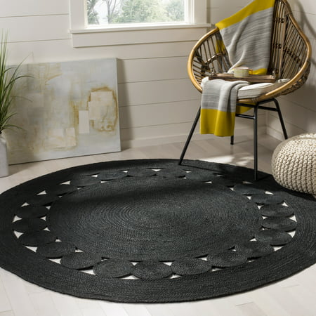 Round Contemporary Natural - Safavieh Natural Fiber Morgan Braided Area Rug