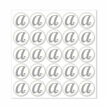 Monogram N With Single Rhinestone Epoxy - Epoxy Stickers