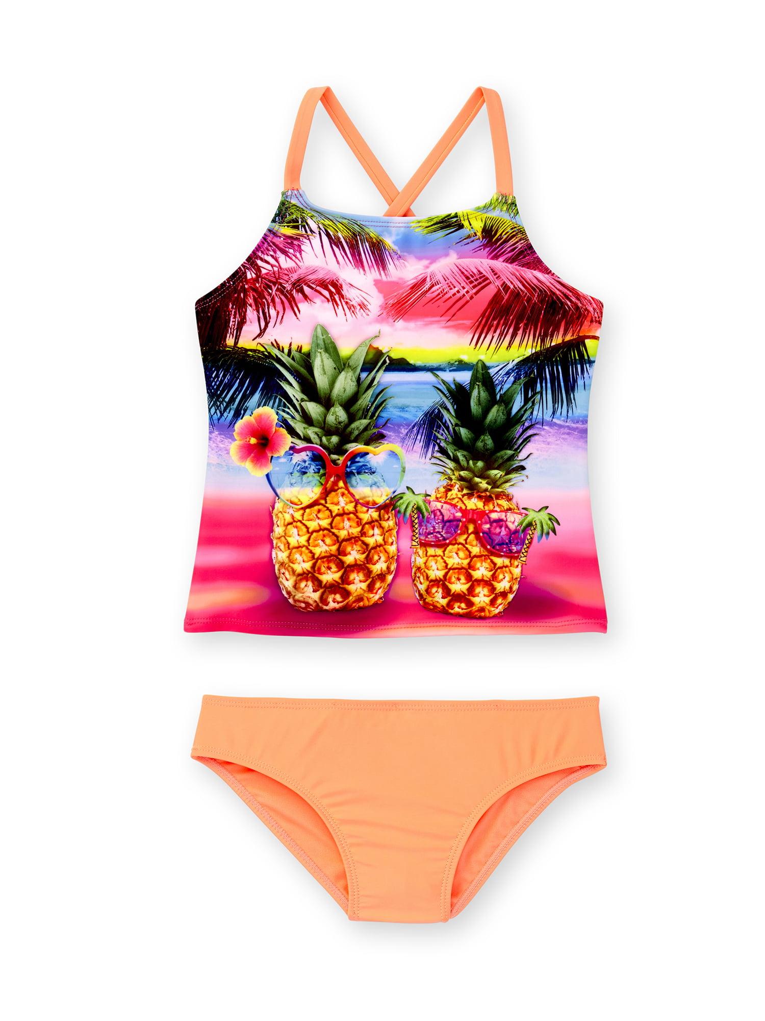Girls' Pineapple Paradise Fashion Tankini