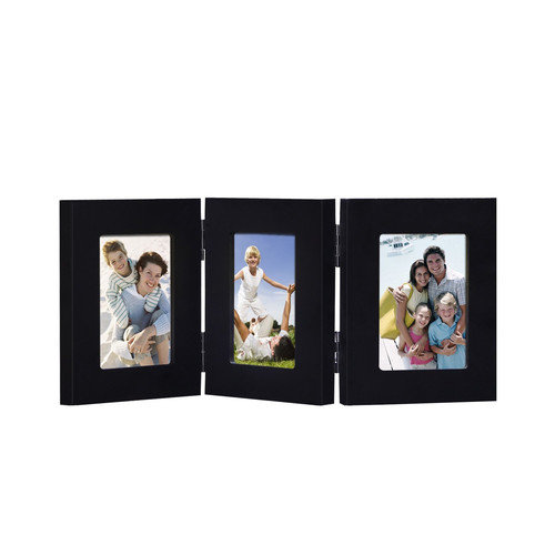 Adeco Trading 3 Opening Decorative Folding Table Desk Top Picture Frame