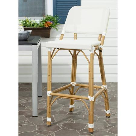 Safavieh Deltana Wicker Indoor-Outdoor Barstool ()