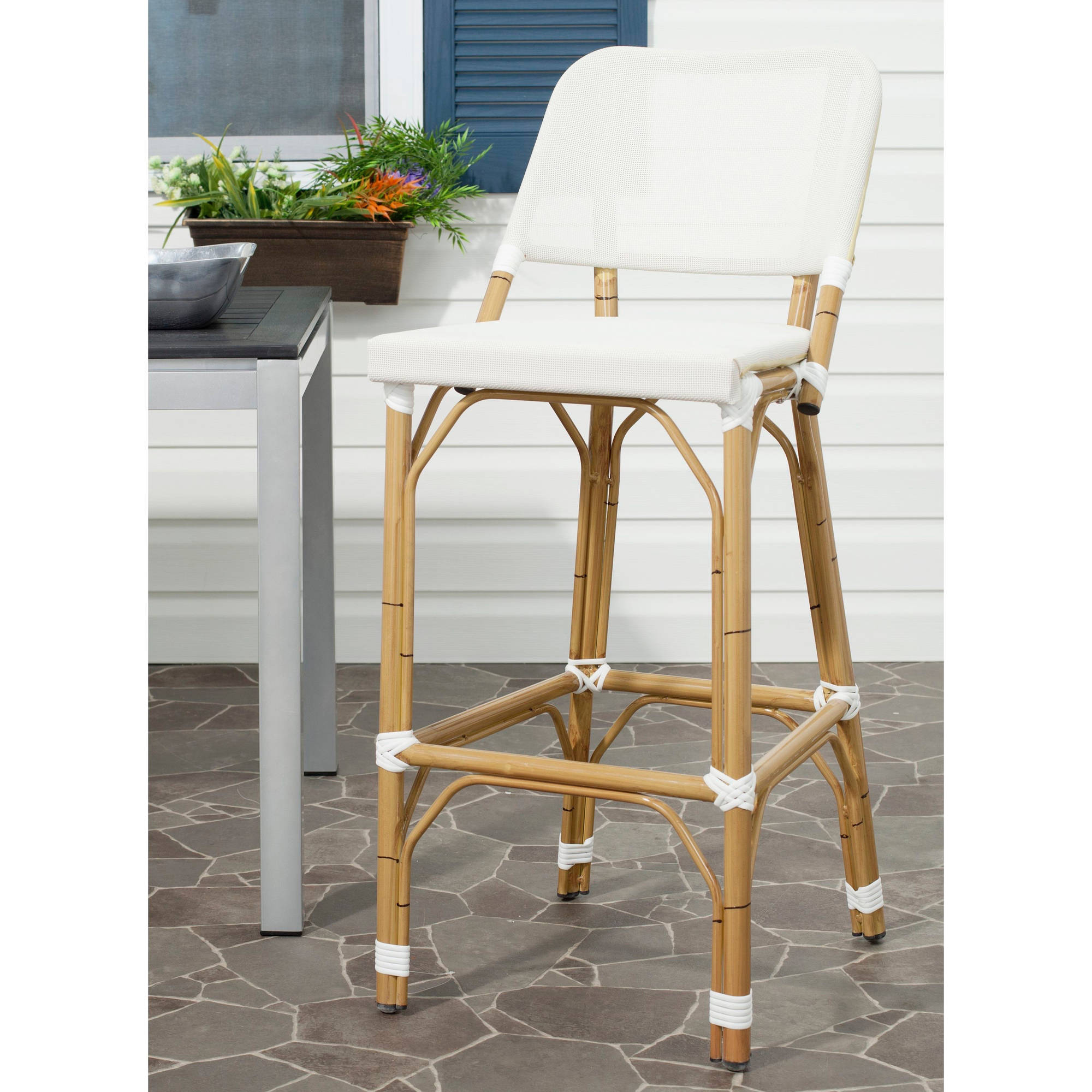 Safavieh Deltana Wicker Indoor-Outdoor Barstool