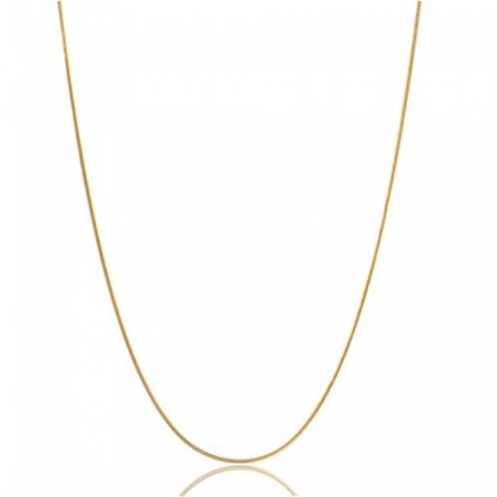 Thin Flexible 025 Gauge 925 Sterling Silver 14K Gold Plated Snake Chain Necklace Women For Men Made In Italy 16 18 20 In