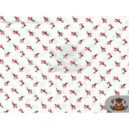- Cotton Flannel TULIP PINK Fabric / 45
