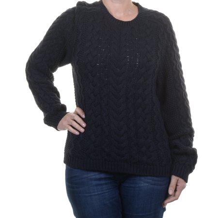 Polo Ralph Lauren Cable Knit Black Sweater Size XL