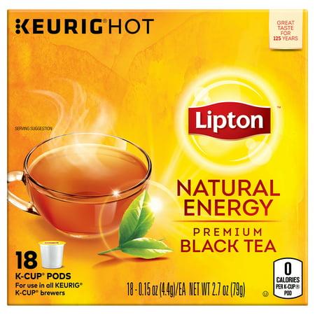 Lipton K-Cup Natural Energy Black tea K-Cup, 18 ct ()