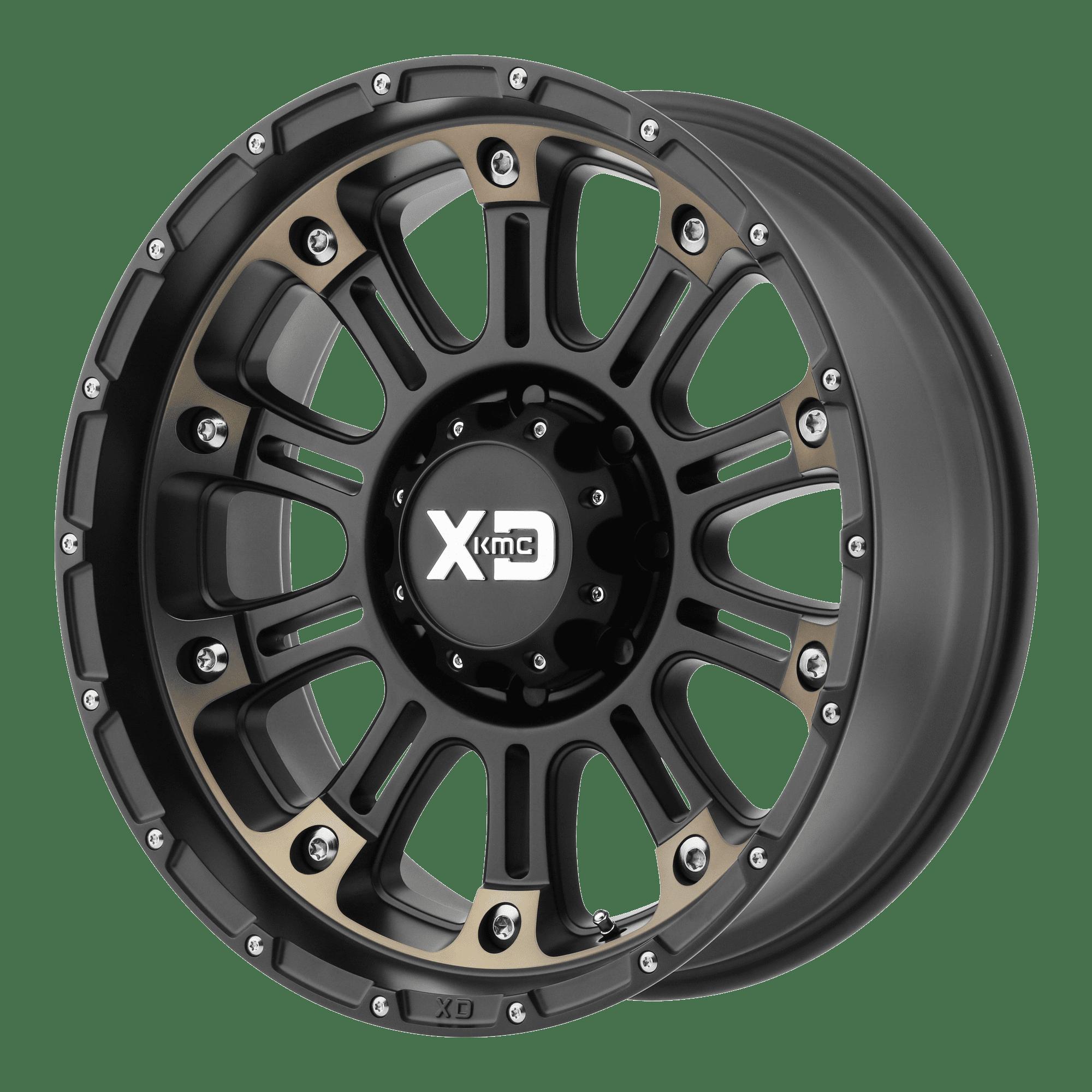 KMC-XD Wheels XD82929087912N XDWXD82929087912N HOSS 2 20x9 8x170.00 SATIN BLACK MACH W/ DARK TINT CLEAR COAT (-12 mm)
