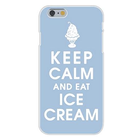 Apple iPhone 6 Custom Case White Plastic Snap On - Keep Calm and Eat Ice Cream w/ - Halloween Ice Cream Sundae Bar