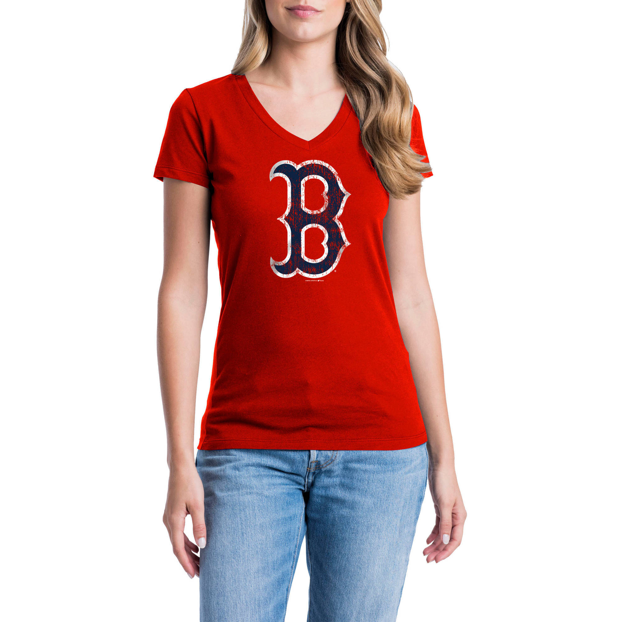 Boston Red Sox Womens Short Sleeve Graphic Tee