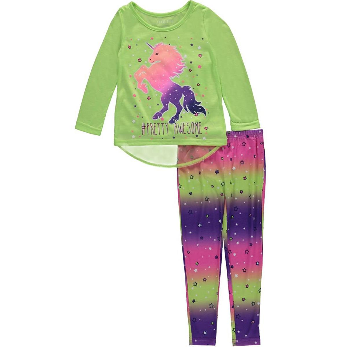 "Komar Kids Little Girls' ""Pretty Awesome"" 2-Piece Pajamas"