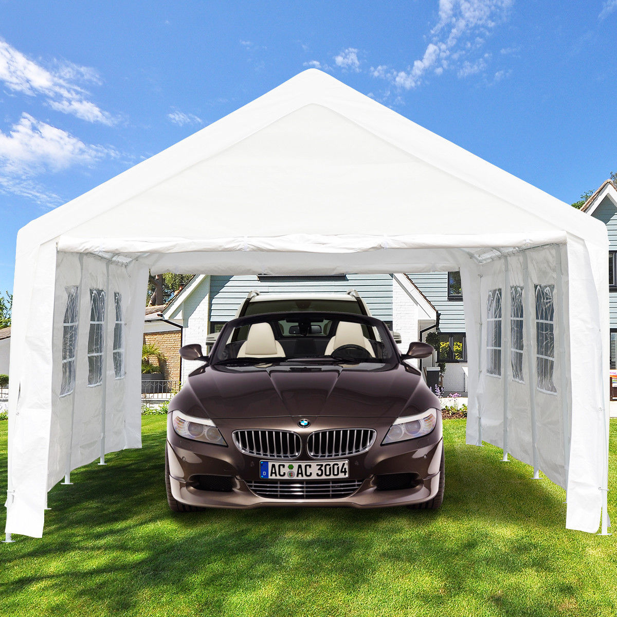 Gymax Outdoor 13' x 26' Canopy Shelter Car Carport Wedding Party Tent Garage Cover Heavy Duty by Gymax
