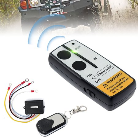 12V/50ft Cordless Car Electric Wireless Winch Remote Control Handset Switch Remote Control Switch Unit Kits for Truck ATV SUV Trailer Zenith Wireless Switch
