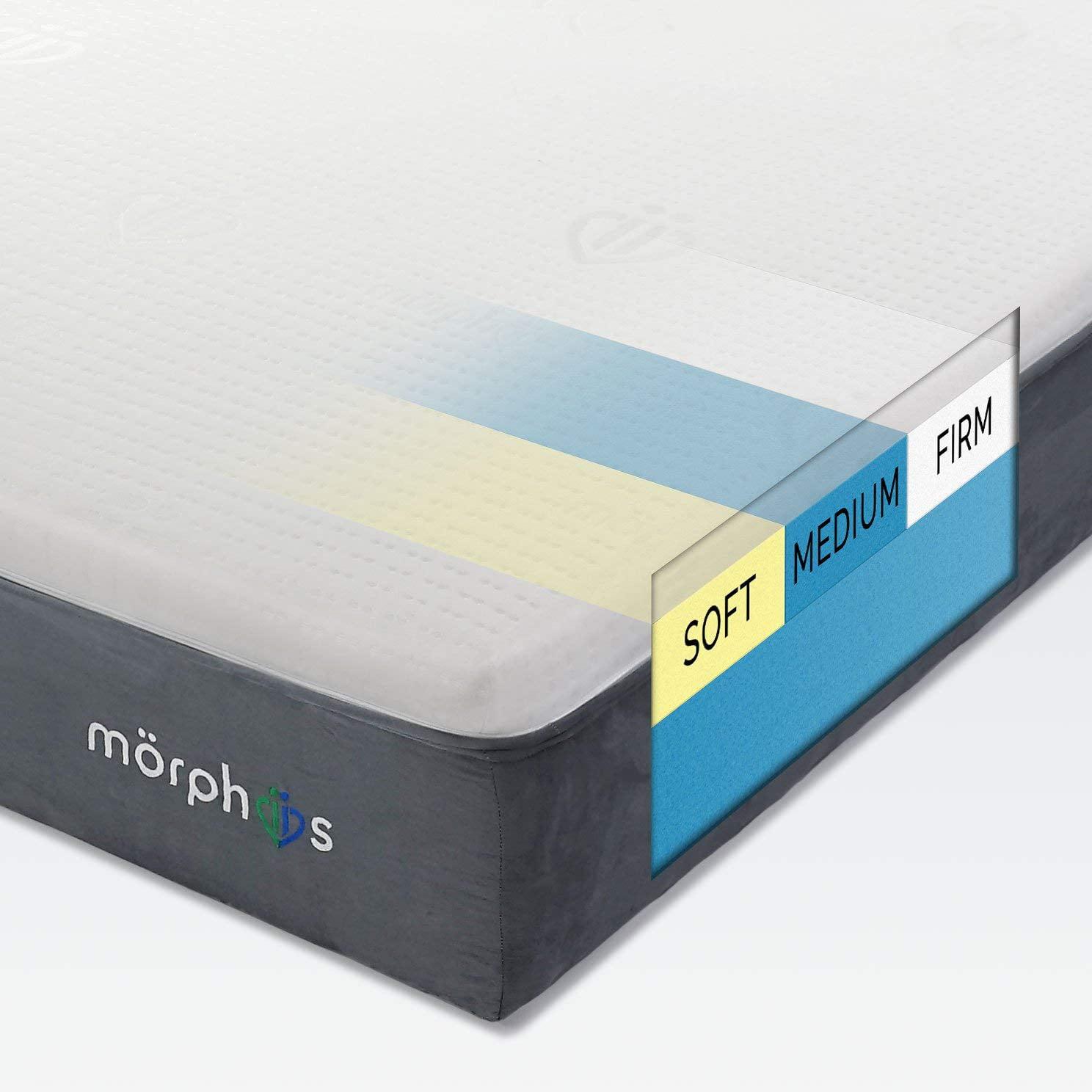 """Morphiis Customizable Firmness 10"""" Mattress, CAL KING, 64 firmness options for each sleeper"""