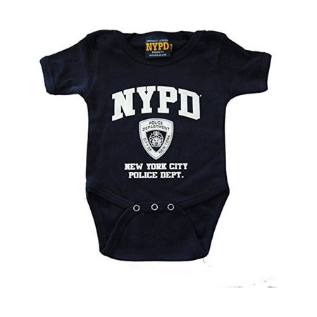 Nypd Infant BodySuit Navy with White Chest Print (6M) ()