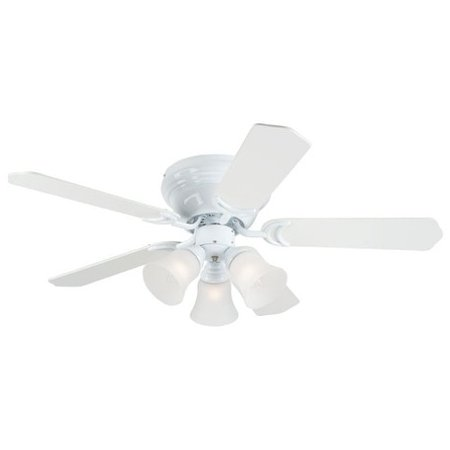 "Westinghouse 7215000 42"" White Contempra Trio Indoor Ceiling Fan With Light Kit"