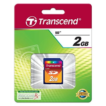 TRANSCEND 2GB SECURE DIGITAL CARD RETAIL - Sold as 4 Packs - image 1 of 3