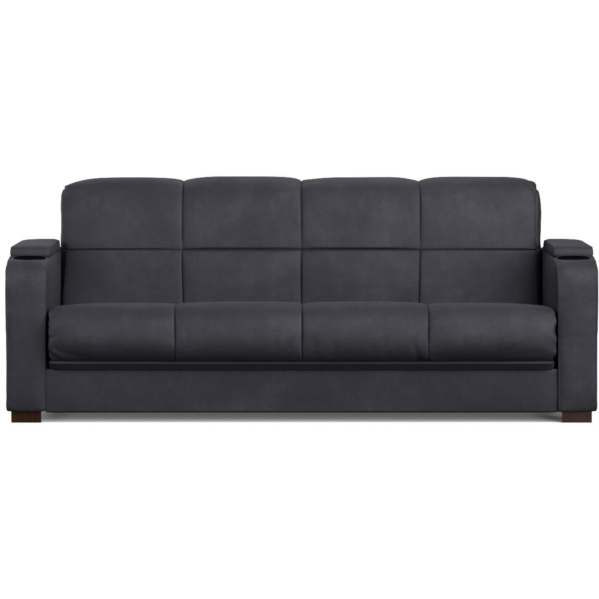 Mainstays Tyler Futon with Storage Sofa Sleeper Bed Multiple