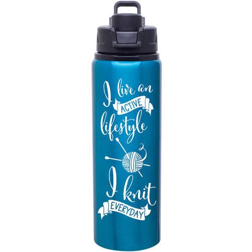 Knit Happy Lifestyle Water Bottle, 28oz