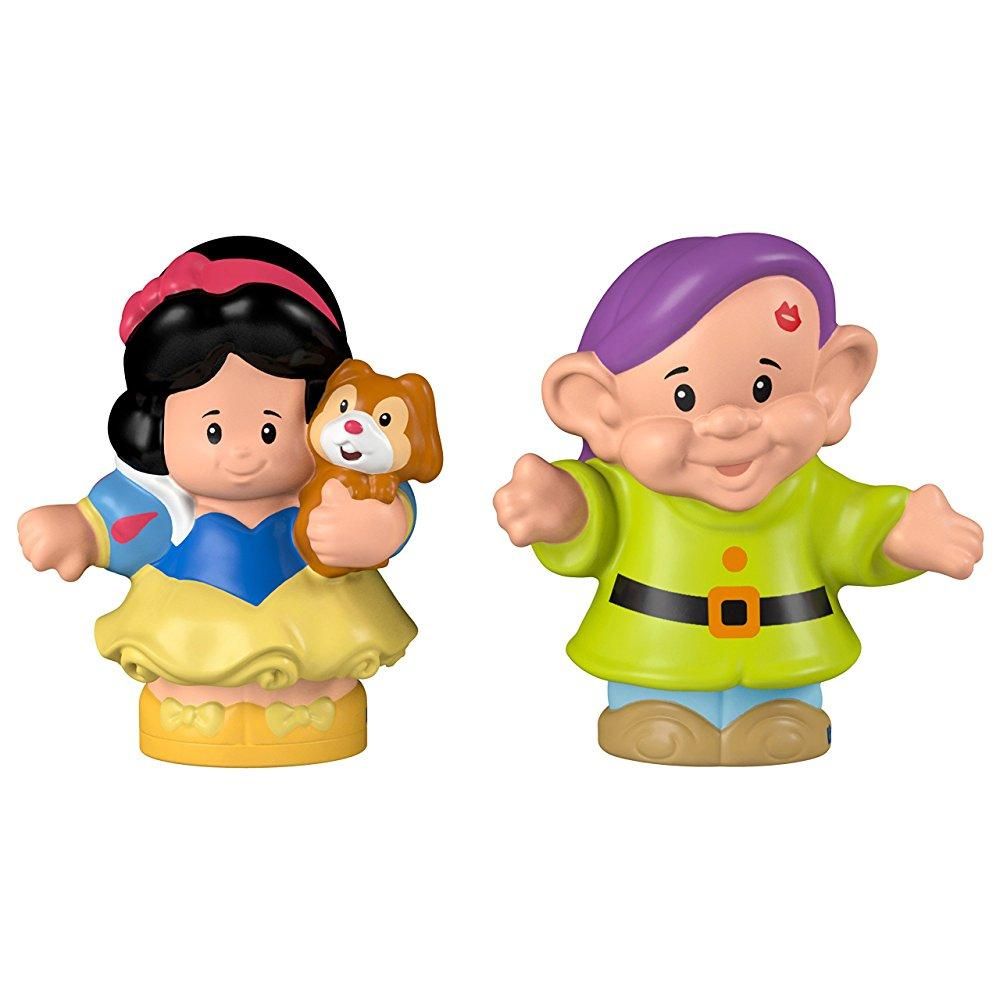 Disney Princess Snow White & Dopey Figures by Fisher-Price Little People
