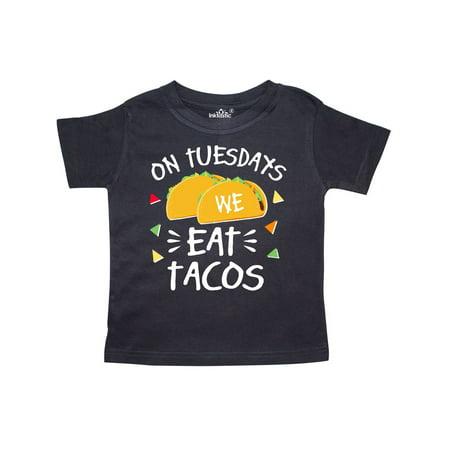 727eb4d8 Inktastic - On Tuesdays We Eat Tacos with Tacos Illustration Toddler T-Shirt  - Walmart.com