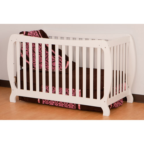 Monza II Fixed Side Convertible Crib - White