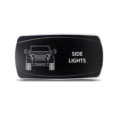 CH4X4 Rocker Switch Jeep Wrangler JK Side Lights - Horizontal - White Led (Jeep Jk Rocker)