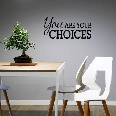 School Wall Decal You Are Your Choices Motivational Quotes Inspirational Vinyl Classroom Sticker Decor Sign XJ623