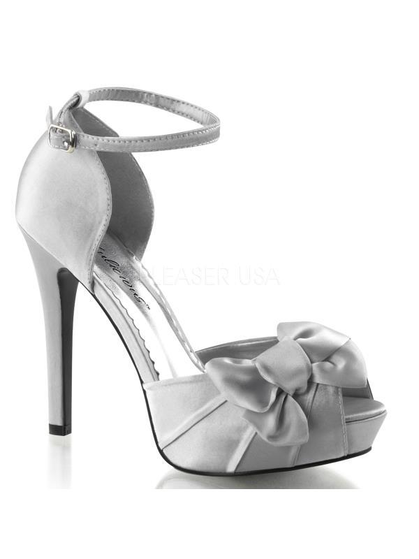 """LUMINA36/SSA Fabulicious Lumina Shoes 4 3/4"""" Lumina Fabulicious Slv Satin Size: 9 b7f724"""