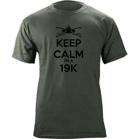 Classic Keep Calm I'm a 19K Army MOS T-Shirt (Create Your Own Keep Calm T Shirt)