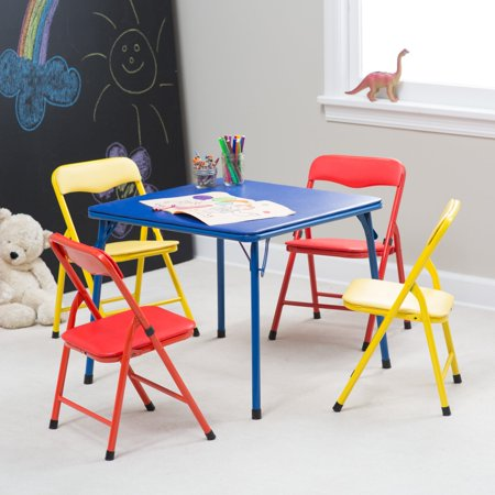 Showtime Childrens Folding Table And Chair Set   Multi Color