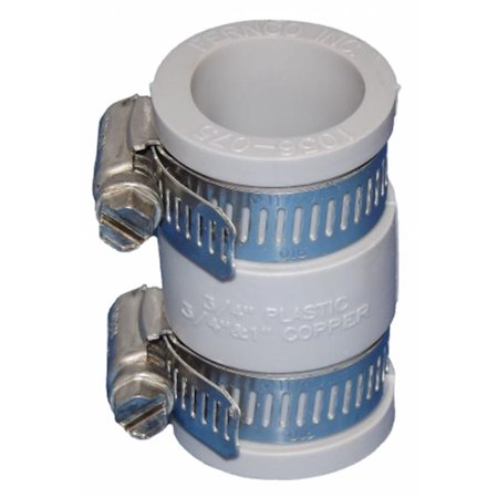 FERNCO Flexible Coupling,For Pipe Size 3/4x3/4 1056-075 ()