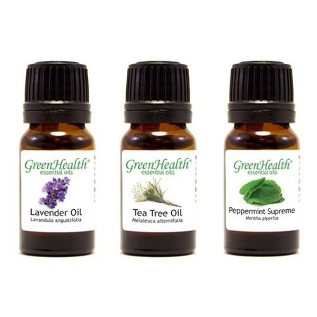 Top 3 100 Pure Essential Oil Basic Set 10ml Lavender, Tea Tree, Peppermint Supreme 10ml Each