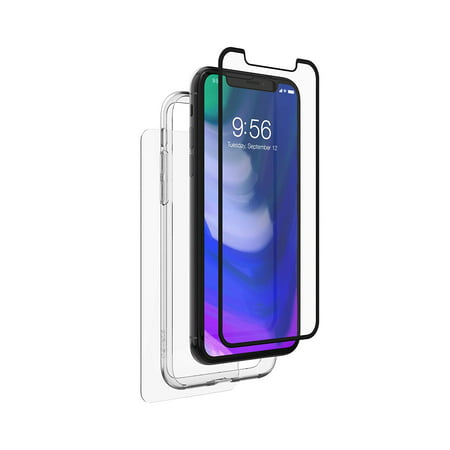 timeless design 8b274 4ec4c Zagg InvisibleShield Glass+ 360 Front Side And Back Full Body Screen  Protector With Bumper For Apple iPhone X, Black