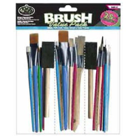 Royal 25 Piece Arts & Craft Brush Value Pack - Rart-17