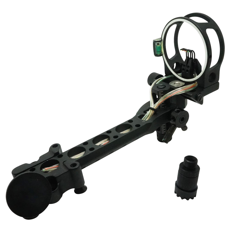 "Safari Choice Archery 5-Pin 0.019"" Bow Sight w/ Detachable Bracket, Black"