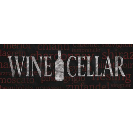 N Harbick Stretched Canvas Art - Wine Cellar - Large 12 x 36 inch ...