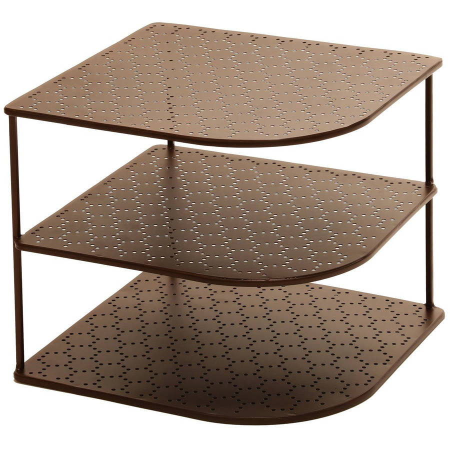 Seville Classics 3-Tier Corner Shelf Counter and Cabinet Organizer