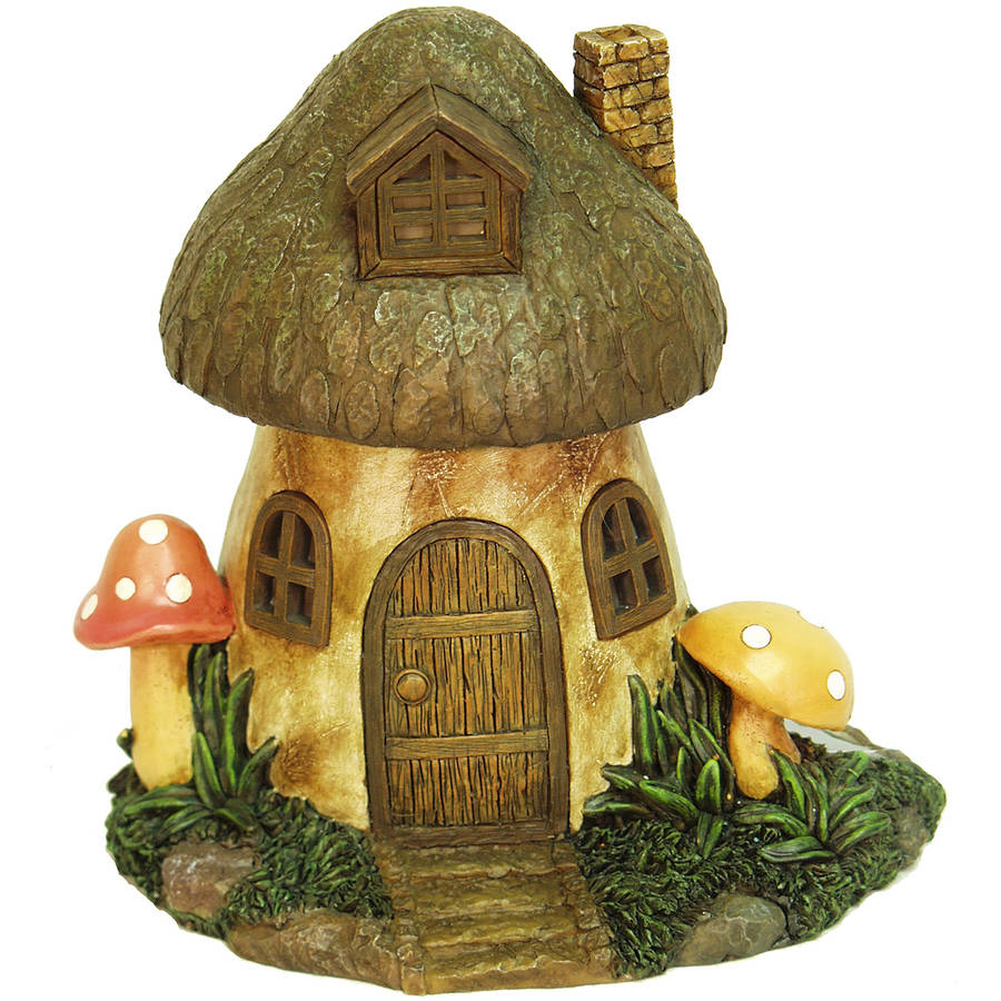 "Echo Valley 6291 8.5"" Solar Mushroom Fairy Or Gnome Home"