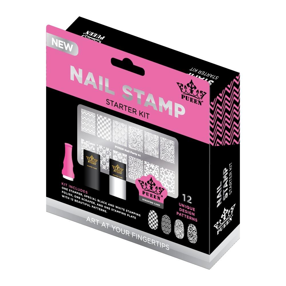 Pueen Nail Stamp Starter Kit - Walmart.com