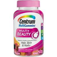 Centrum Adult MultiGummies Multi + Beauty (90 Count, Naturel Cherry, Berry, Orange Flavors) Multivitamins/Multimineral Supplement Gummy, Vitamins D3, B and Antioxidants