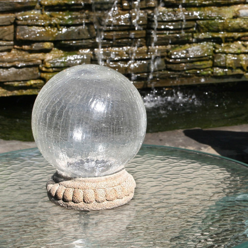 Chameleon Solar Gazing Ball with Table Top Pedestal by Smart Living Home & Garden
