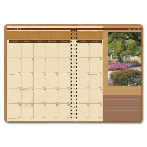 "House of Doolittle Landscapes Full-Color Monthly Planner, Ruled, 8-1/2"" X 11"", Brown, 2016"