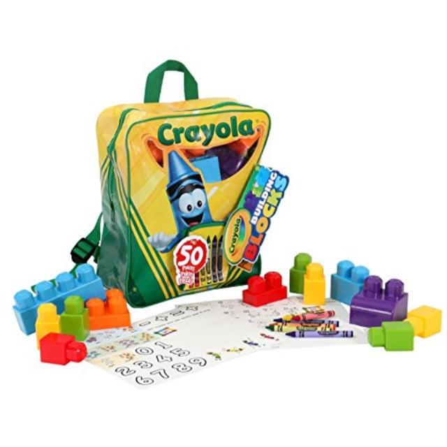 50-Piece Crayola Building Block Backpack