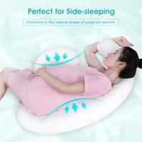Body Pregnancy Pillow, C Shaped Maternity Pillow for Pregnant Women and Back Pain, With Adjustable Crescent Pillow