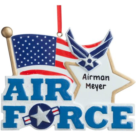 Personalized air force ornament for Air force decoration writing