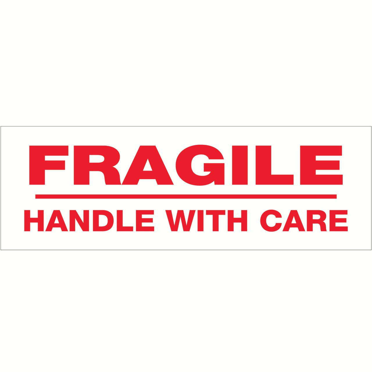 Box Partners Sealing Tape ,Fragile Handle With Care,2x55yds - BXP T901P026PK