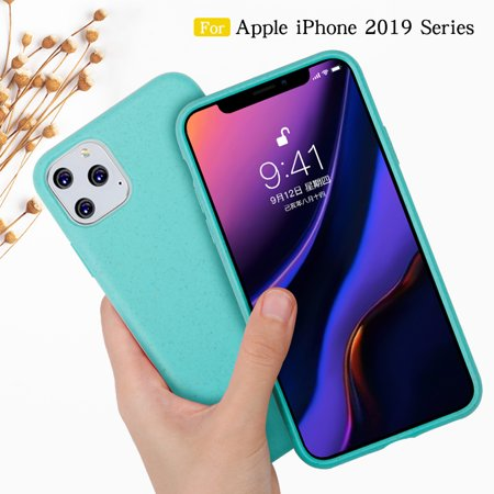 Wheat Straw Case on For 2019 iPhone 11 Pro Case cover Shockproof for iPhone 5.8 inch Soft TPU Silicone Phone Case Coque(Green) (Coque Iphone)
