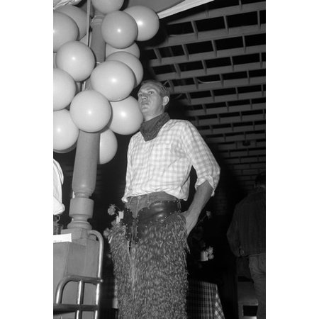 Western Themed Events (Steve McQueen rare candid in western clothes promo event Wanted Dead or Alive 24x36)