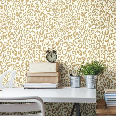RoomMates Leopard Peel & Stick Wallpaper - Nightmare Before Christmas Halloween Wallpaper